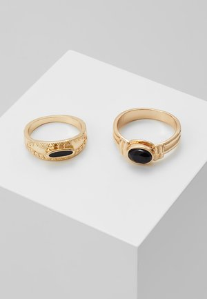 BLACK PINKY RING 2 PACK - Prsten - gold-coloured