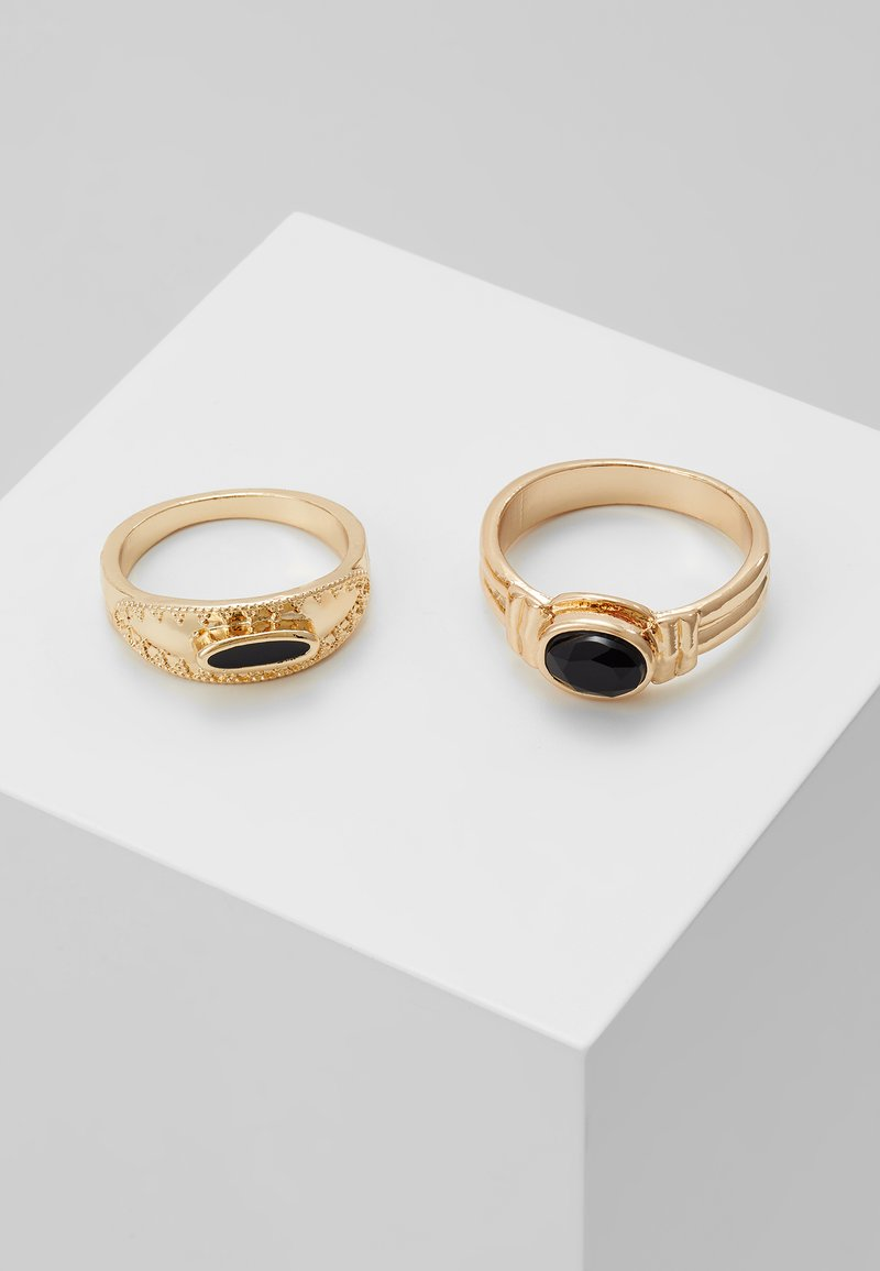 Burton Menswear London - BLACK PINKY RING 2 PACK - Ring - gold-coloured