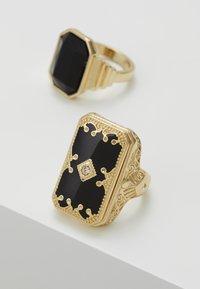 Burton Menswear London - ENGRAVE RHINESTONE 2 PACK - Prsten - gold-coloured - 4