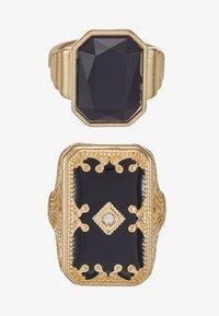 Burton Menswear London - ENGRAVE RHINESTONE 2 PACK - Prsten - gold-coloured - 3