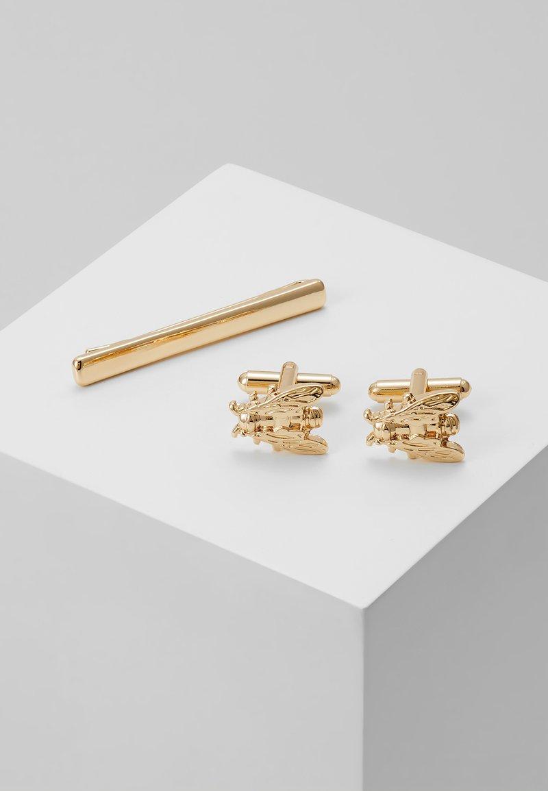 Burton Menswear London - FLY SET - Cufflinks - gold-coloured