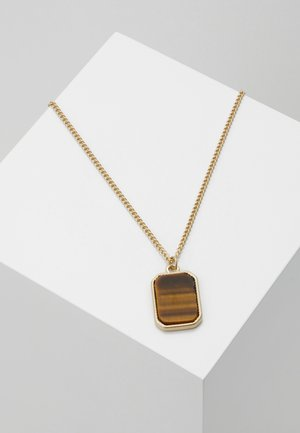 STONE DOGTAG - Collar - gold-coloured