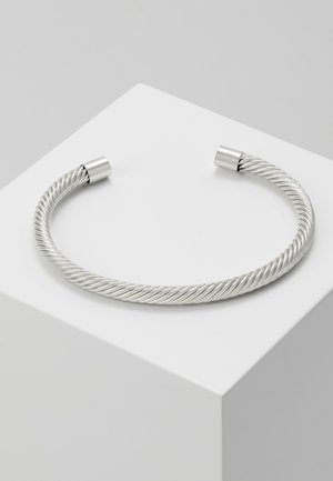 TWIST CUFF - Armband - silver-coloured