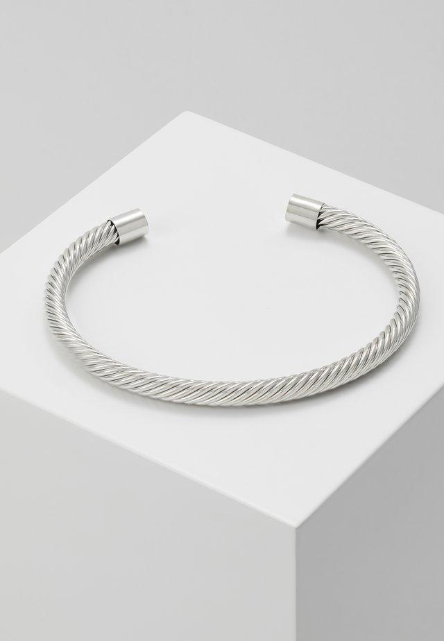 TWIST CUFF - Armband - silver-coloured