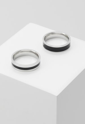 ENAMEL 2 PACK - Anillo - silver-coloured