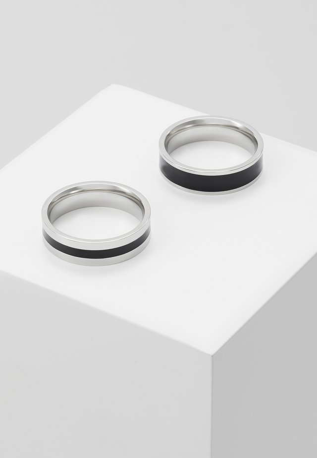 ENAMEL 2 PACK - Ring - silver-coloured