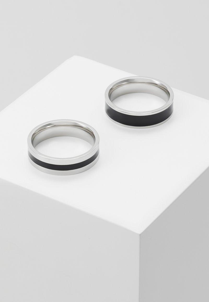 Burton Menswear London - ENAMEL 2 PACK - Ring - silver-coloured