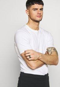 Burton Menswear London - ENAMEL 2 PACK - Ring - silver-coloured - 1