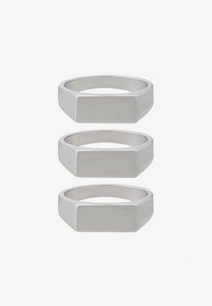 BAR 3 PACK - Prsten - silver-coloured