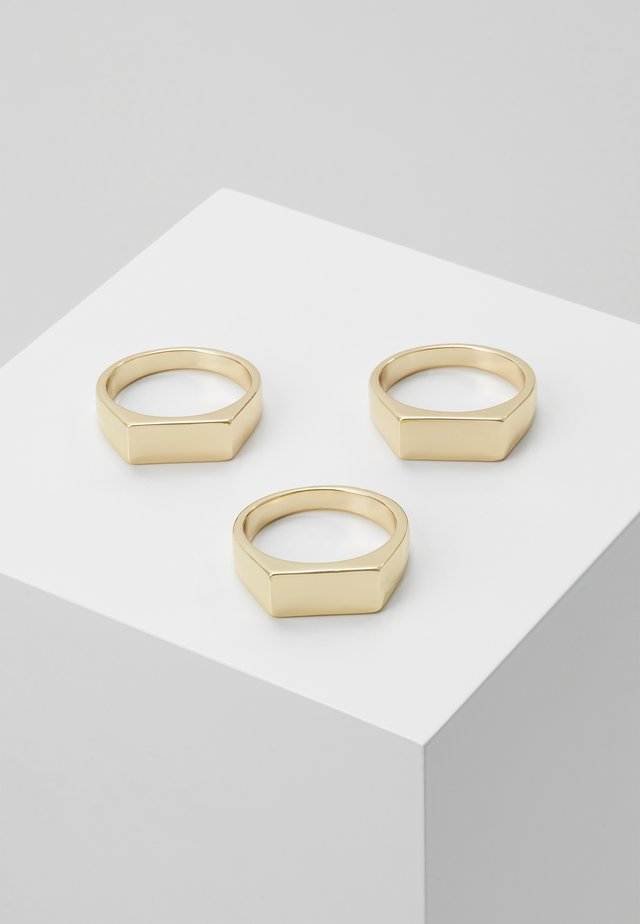 BAR 3 PACK - Ring - gold-coloured