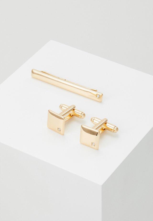 SQUARE SET - Manschettenknopf - gold-coloured