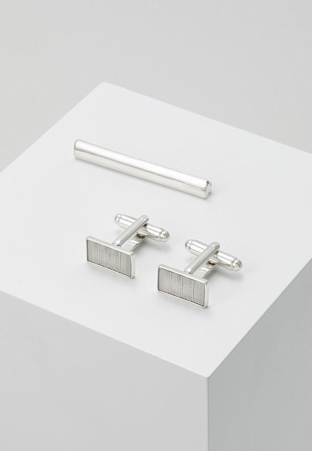 CUFF SET - Manschettknapp - silver-coloured