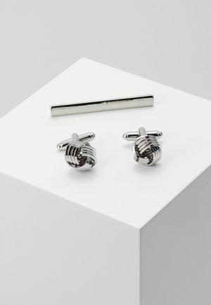 KNOT SET - Manžetové knoflíčky - silver-coloured