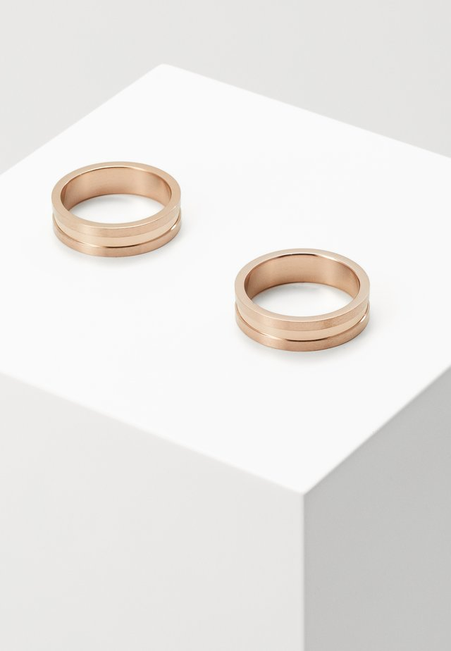 2 PACK - Ring - rose gold-coloured