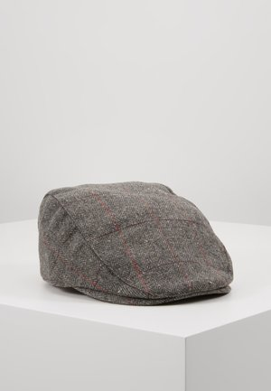 HERRINGBONE FLAT CAP - Hatt - grey