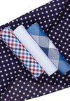 Burton Menswear London - MIX HANKIE SET 4 PACK - Annet - blue