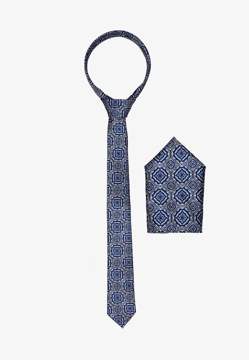 Burton Menswear London - TILE GEO SET - Taskuliina - blue