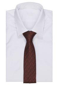 Burton Menswear London - BURG BRAND TIE - Kravata - burgundy - 1