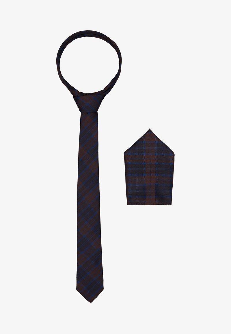 Burton Menswear London - BURG CHECK SET - Kapesník do obleku - navy