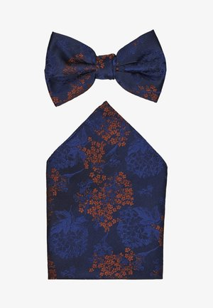 CHINA BOW TIE AND MATCHING POCKET SQUARE SET - Lommetørkle - navy
