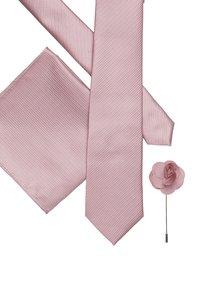 Burton Menswear London - WEDDING WITH FLOWER PIN SET - Pocket square - pink - 2