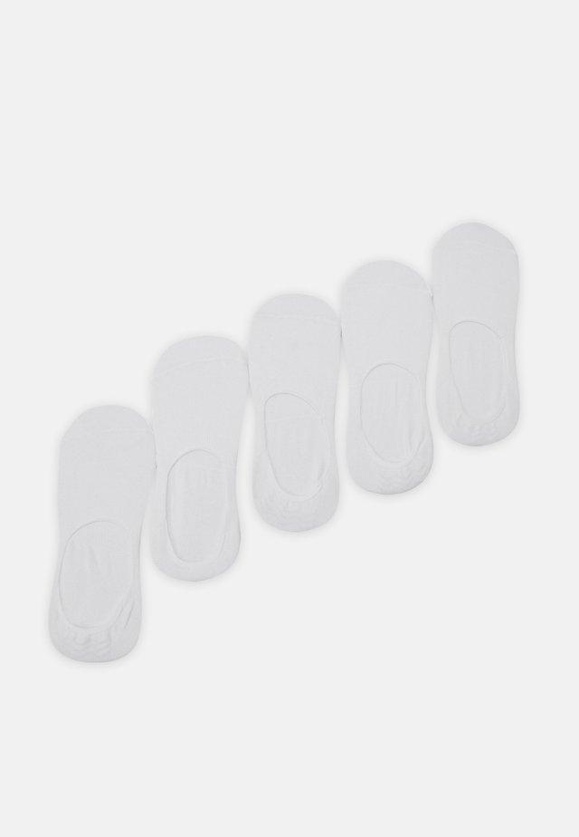 INVISIBLES 5 PACK - Enkelsokken - white