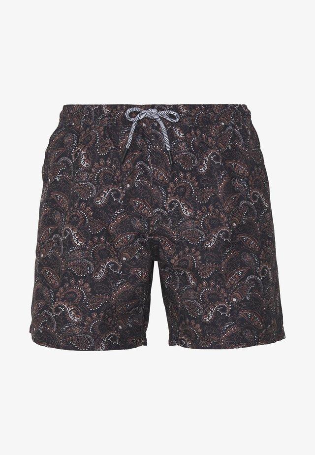 PAISLEY PRINT SWIM - Shorts da mare - burgundy