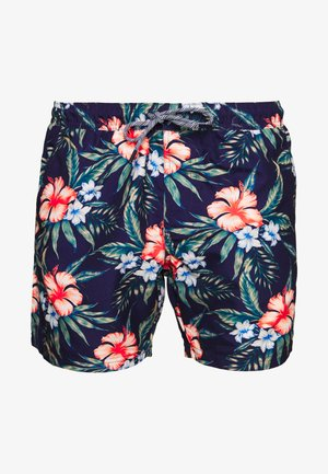 FLORALPRINT - Swimming shorts - navy