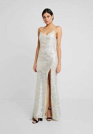 Společenské šaty - silver/beige