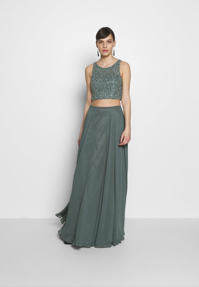 SET - Maxi sukně - smokey green