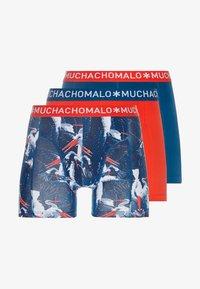 MUCHACHOMALO - OOIEV 3 PACK - Panties - navy blue/red - 3