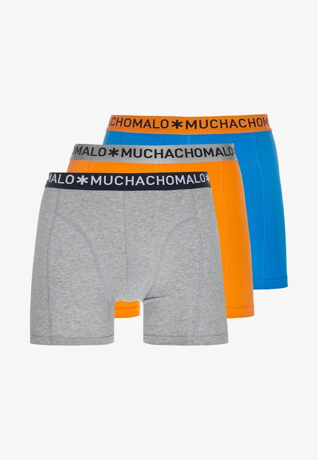 SOLID 3 PACK - Boxerky - grey/royal blue/orange