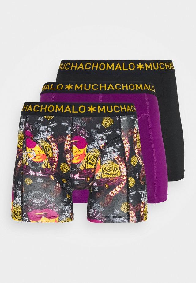 THUGY 3 PACK - Underkläder - black/purple