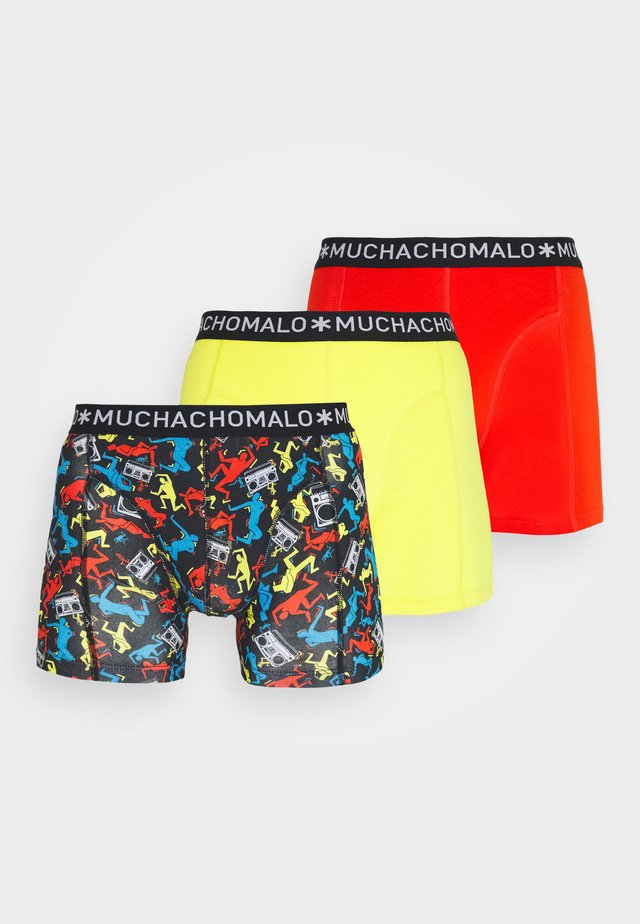 BREAK 3 PACK - Pants - red/yellow