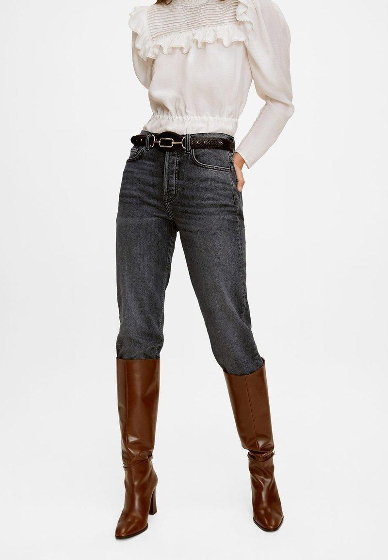 Mango Premium - PREMIUM - Jeans Straight Leg - open grey