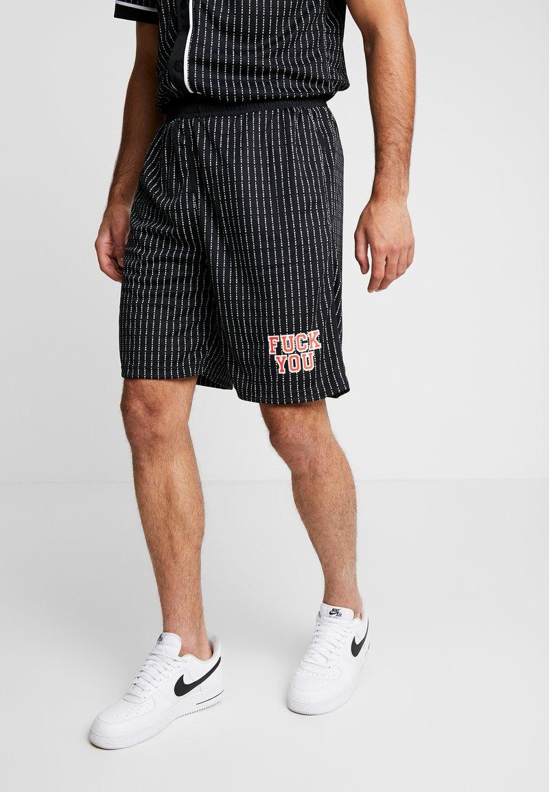 Mister Tee - FUCKYOU - Pantalones deportivos - black/white