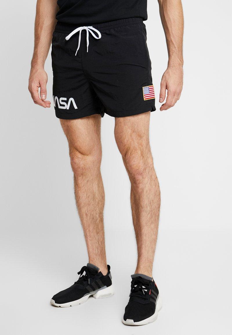 Mister Tee - NASA WORM LOGO SWIM - Shorts - black