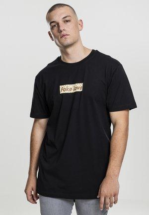 FAKE LOVE TEE - T-shirt print - black