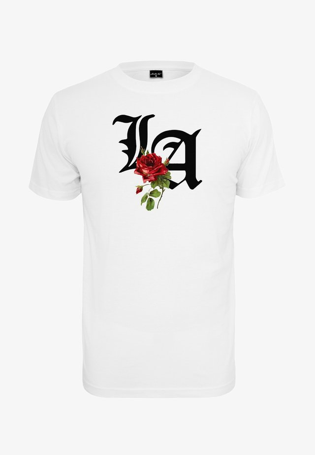 LA ROSE - Camiseta estampada - white