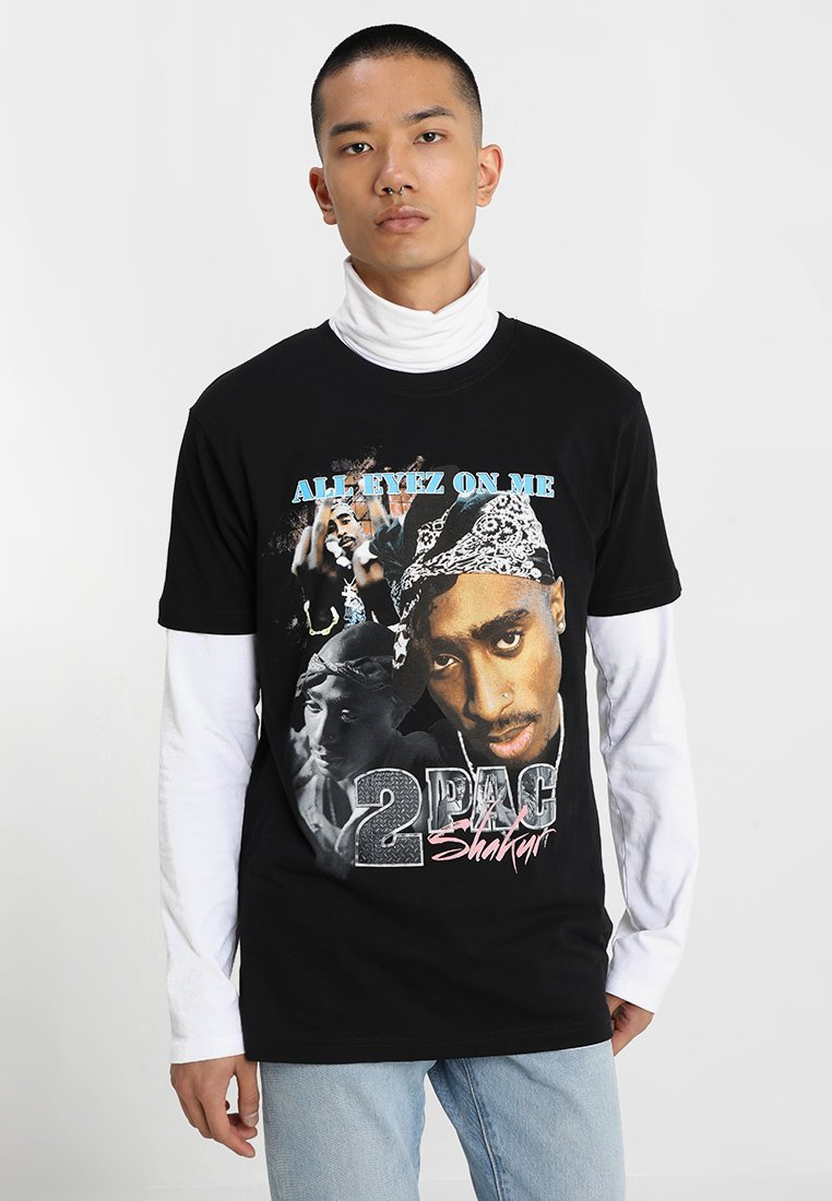 TUPAC RETRO TEE T shirt print black