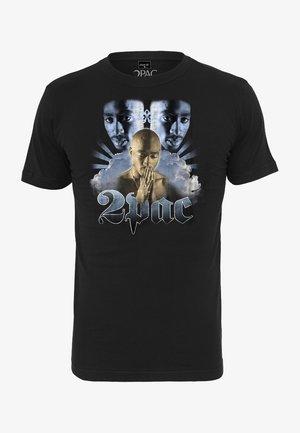 TUPAC HEAVEN TEE - T-shirt print - black