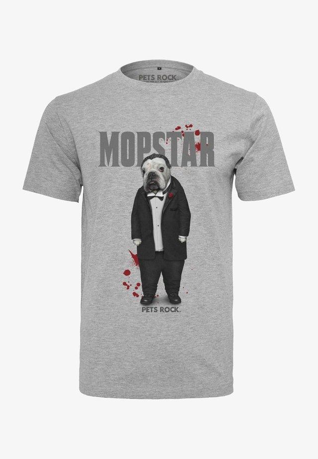 PETSROCK DOGFATHER - T-shirt print - light grey