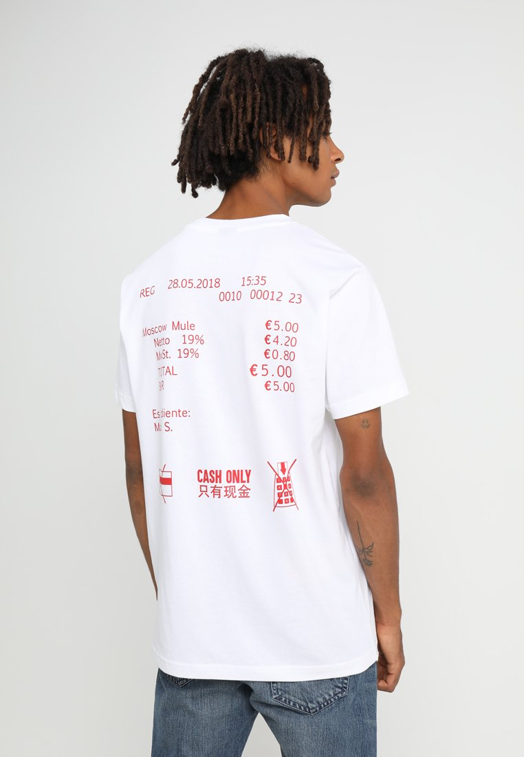 Mister Tee - CASH ONLY TEE - T-shirt print - white