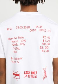 Mister Tee - CASH ONLY TEE - T-shirt print - white - 5