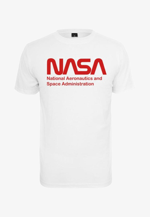 NASA WORMLOGO - T-shirt con stampa - white