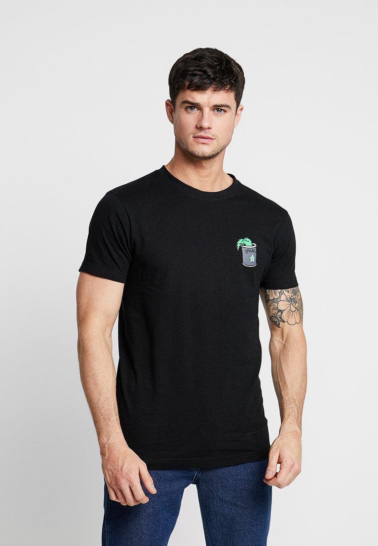 Mister Tee - POPEYE STAY STRONG TEE - Print T-shirt - black