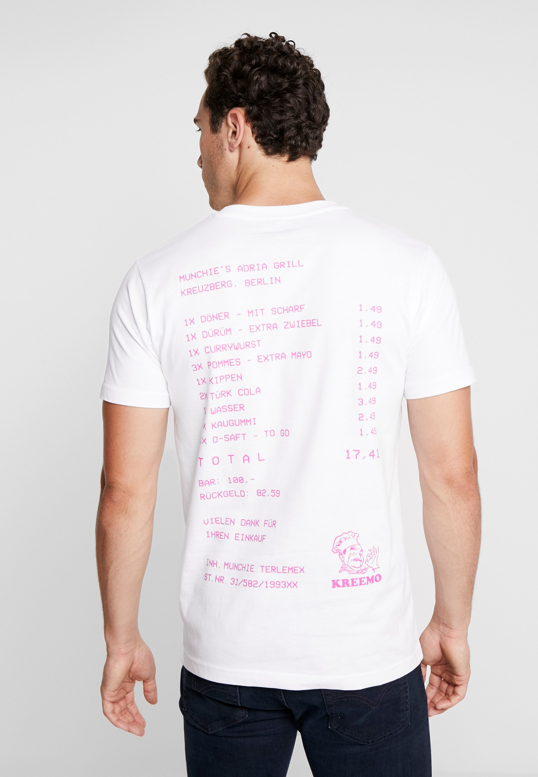 Adria Imprimé GrillT Tee White Mister shirt Ygbfv76y