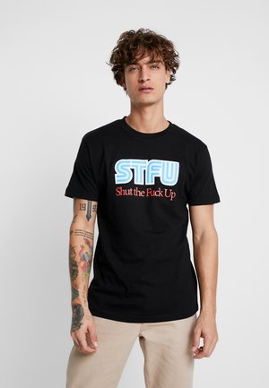 STFU TEE - Camiseta estampada - black