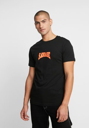 SAVAGE TEE - T-shirt con stampa - black
