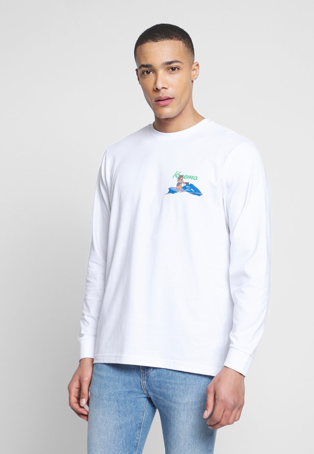 BAD GYAL TEE - Topper langermet - white